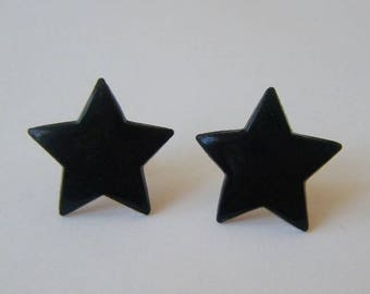 Earrings ♥ ♥ black stars