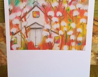 Sunday, Church Notecard, Any Occasion, blank inside