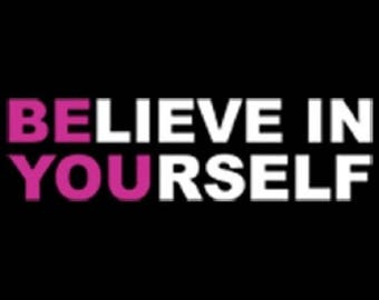 On Sale - Believe in Yourself Black Womens Plus Size 2XL Tee Shirt Free Shipping