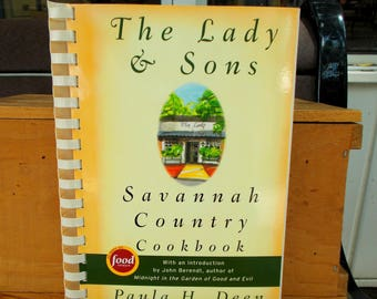 Paula Deen The Lady & Son's Savannah Country Cookbook Paperback / Vintage Cookbook Southern Cooking