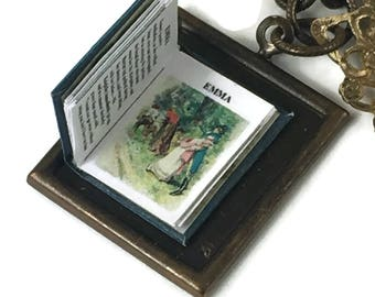 Emma Jane Austen Hidden Book Necklace Tiny Readable Book