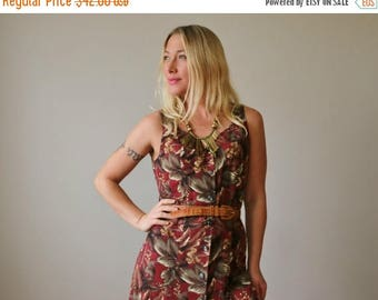 ANNIVERSARY SALE 1980s Forest Panel Dress >>> Size Extra Small to Small