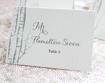 Rustic Wedding Birch Tree Wedding Escort Cards, Table Place Cards, Wedding Place Cards, Escort Cards, Wedding Placecards