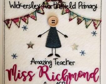 Whole Class Thankyou 'Amazing Teacher' Card - Personalised