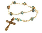 Anglican Prayer Beads, Small Christian Pocket Rosary, Handmade in New Zealand
