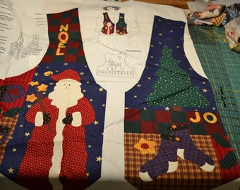 VIP Dreamspinners Christmas Vest , Unassembled Panel