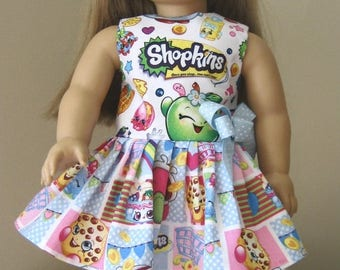 20% off Eclipse Sale SHOPKINS Doll Clothes- Made to Fit AMERICAN GIRL Doll, Shopkins Logo Dress Made for American Girl Dolls