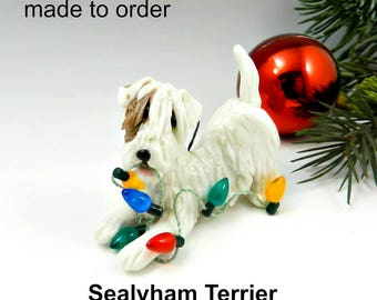 Sealyham Terrier Porcelain Christmas Ornament Figurine Made to Order