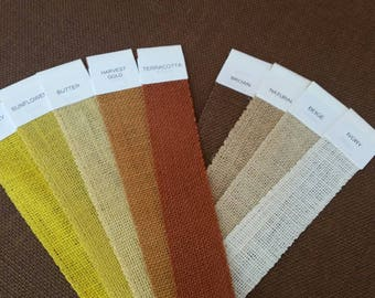 SAMPLE set - IVORY - Yellows - and - BROWNS