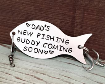 Fishing Lure Personalized, Pregnancy Announcement To Husband, Pregnancy Reveal To Husband, Daddy To Be, Custom Lure, Gift For Fisherman