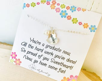 Kindergarten graduation gift, pre school grad, little girl name bracelet, personalized heart charm for child, recital gift, Sterling silver