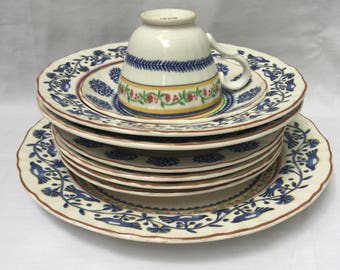 10 PC Mikasa Country Classics French Terrace Dishes Set Bowls Plates Cup Saucer