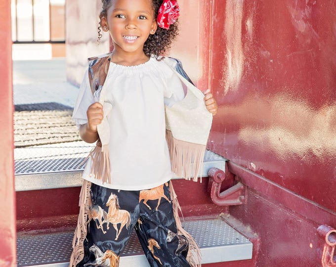 Cowgirl Outfit - Toddler Cowgirl Costume - Girls Western Outfit - Barnyard Birthday - Fringed Pants  sc 1 st  Etsy Coupon Codes & 15% OFF coupon on Cowgirl Outfit - Toddler Cowgirl Costume - Girls ...