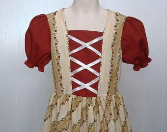 Peasant American Girl Colonial  Clothes Girls Felicity Dress  Costume  Size 8/10 Buy it Now  Ready to Ship