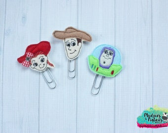 Planner paper clip SET of 3 { Toy Story } galaxy, woody, jesse, buzz lightyear, to infinity and beyond, inspired, summer, happy planner