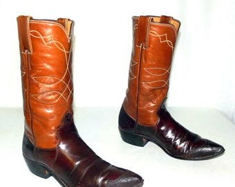 Vintage Womens cowboy boots - Justin brand - size 6 A -altered
