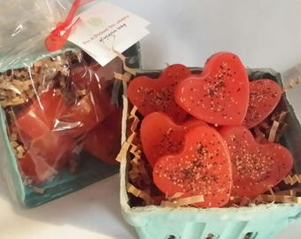Fresh Picked Strawberry guest soaps set