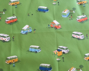 RARE. Heather Ross Spoonflower VW buses
