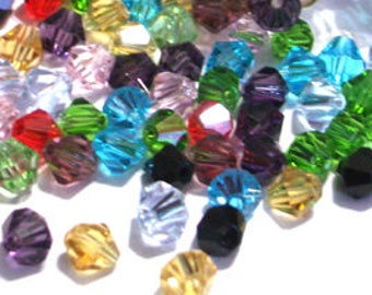 100 Pieces 6mm Crystal Glass Beads Bicone Crystals Crystal Beads Crystal Glass Beads