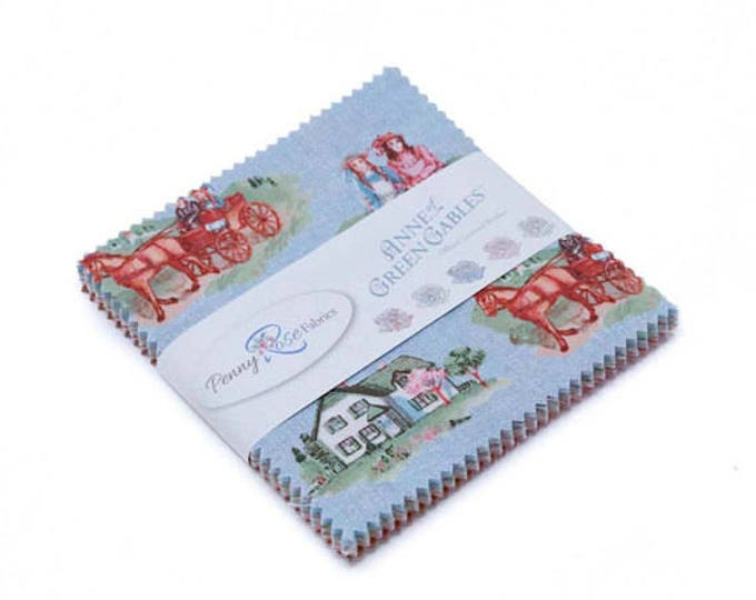 ANNE of GREEN GABLES, 5 inch stackers 42 pieces cotton fabric by Penny Rose Fabrics for Riley Blake Designs