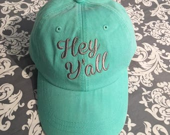 Southern Sayin Baseball Caps.  Embroidered Baseball Caps.  Southern Girl Ball Cap.  Beach Baseball Hat.  Blessed Ball Cap.  ID-LP101