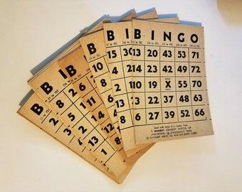 Set of 10 Vintage Bingo cards
