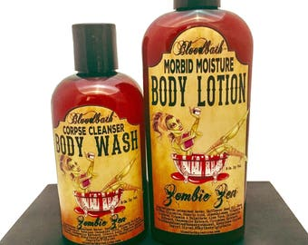 CLEARANCE Zombie Zen Lotion and Body Wash Set