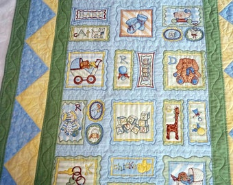 Quilt for Baby, Toddler, Girl, Boy, Crib Qult, Snuggle Quilt and Pillow