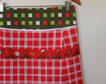 daisy parade...vintage tablecloth A line skirt with yoke waistband