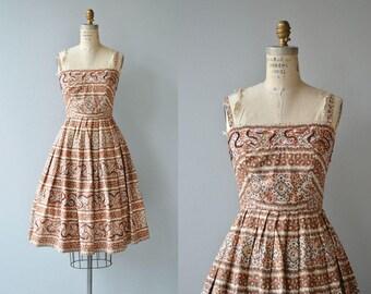 Potter's Clay dress | vintage 1950s dress | printed 50s sundress