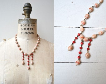 Ipso Facto glass necklace | vintage 1920s necklace | glass 20s necklace