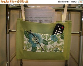 ON SALE Walker Bag Light Green with Floral Print Pockets