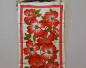 Sale 25% June Vintage Linen Pink Dogwood
