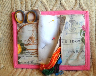 Belle Paree Needle Book, Needle Case, Hand Sewing Organizer