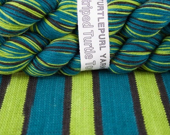 Absinthe - Hand-dyed Self-striping sock yarn