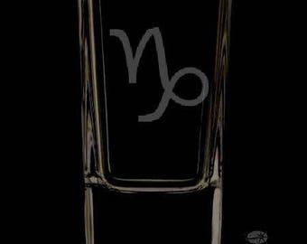 Capricorn 2.5 Ounce Personalized Shot Glass