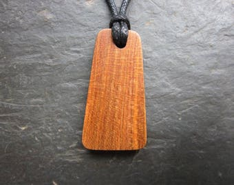 Natural Wood Pendant - Plum - Protects Against Evil Influences.