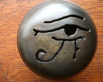 "New ""Eye of Horus"" Cut-Out on Antique Doorknob"