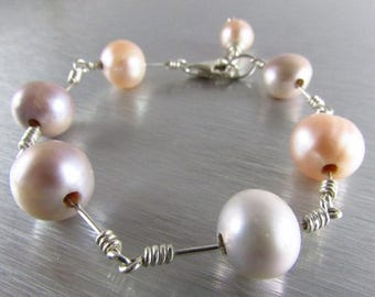 25 OFF Modern Pearl Bracelet With Sterling Silver