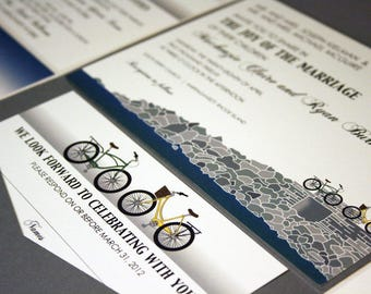 Reserved for Megan Roberts, Two Bikes and a Bridge Wedding Invitations and Accessories