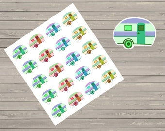 Camping Planner Stickers Camper Planner Stickers Fits Most Planner Camping Stickers Summer Stickers Vacation Stickers