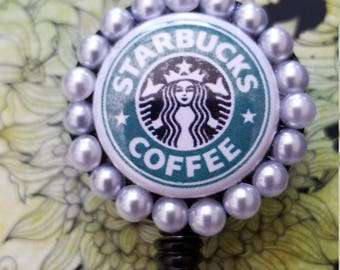 Starbucks retractable badge holder