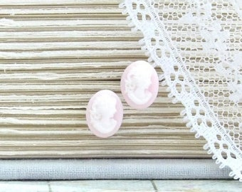 Cameo Studs Pink Stud Earrings Victorian Earrings Pink Cameo Jewelry Cameo Earrings Hypoallergenic