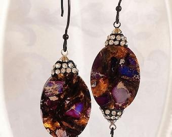 SALE 20% Off Boho Earrings - Purple - Statement Earrings - Dangle - BOHO NYC Purple - Passport Collection