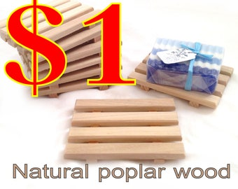8 soap dish special - 1.00 Soap Dish SPECIAL - Limited time Only - 8 of my most popular soap dishhes for 1.00 each - poplar or cedar wood