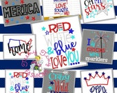 Sample Sale ~ 4th of July shirts ~ Fourth of July ~ Independence Day ~ Fireworks ~ Sparklers ~ Red White Blue Cute ~ 1st 4th of July ~