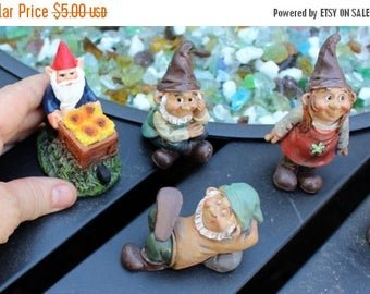 Save25% Gnomes-Miniature Garden gnome-Resin gnome-fairy garden decor-Terrarium supplies