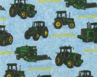 "John Deere Tractors FLANNEL Fabric ~ 42"" x 22"" remnant"