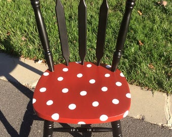 Minnie Mouse Chair, Made to Order and Personalized