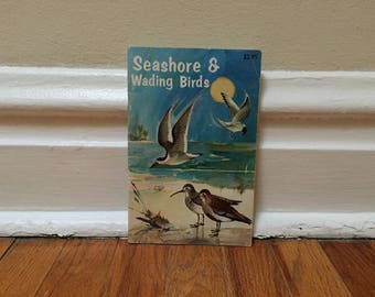 Bird Book Seashore and Wading Birds of Florida 1974 Vintage Book Paperback Birdwatching Audubon Harold Bailey Color Plates